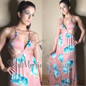 Floral take me on vacation maxi dress